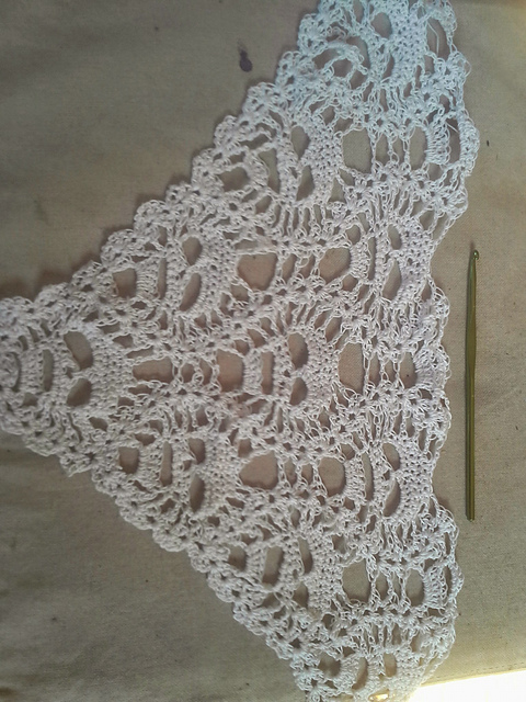 Wip Lacy Skull Shawl About 13 Of The Way Done Crochet