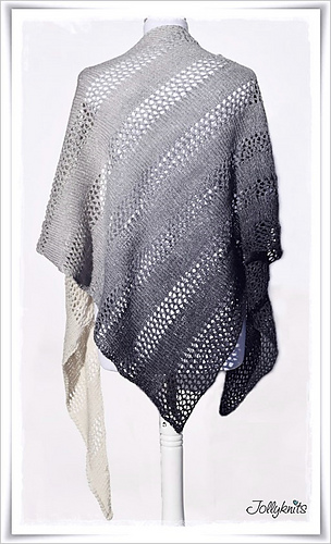 Ravel Knitting Patterns : Ravelry: Knitting Pattern Lace Shawl Black or White pattern by Jolanda Schneider