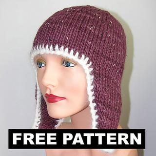 Earflap Hat Knitting Pattern Bulky Yarn : Ravelry: Bulky Azapa Earflap Hat pattern by Jill Bujold