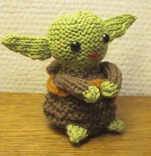Knitting Pattern For Baby Yoda Hat : Ravelry: Knitted Yoda Doll Pattern pattern by Brittany Jones