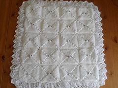 Ravelry Double Layer Pram Blanket Knitting Pattern