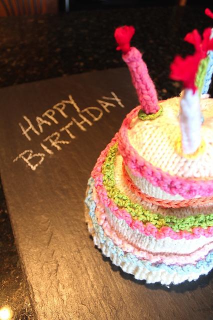 Happy Birthday Cake Hat by Karen Gietzen