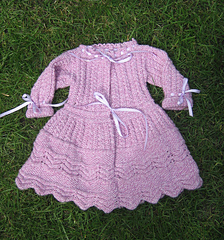 Knitting Patterns Baby Frocks : Ravelry: babys knitted frock pattern by Weldons