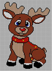 Free Knitting Pattern For Reindeer Jumper : Ravelry: Christmas Baby Rudolph Reindeer Jumper / Sweater Knitting Pattern pa...