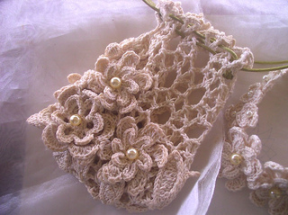 Free Crochet Wedding Bag Pattern : Ravelry: Cotton Lover s Bridal Purse pattern by Fatima