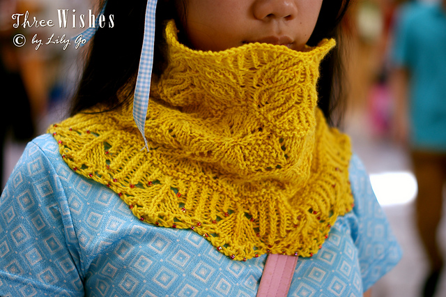 Lilygo Three Wishes Cowl Knitting Pattern For Sale