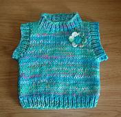 Ravelry Chunky Yarn Baby Sleeveless Vest Top Pattern By