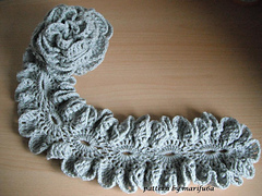 Crochet Ruffle Scarf | - Crochet Free patterns