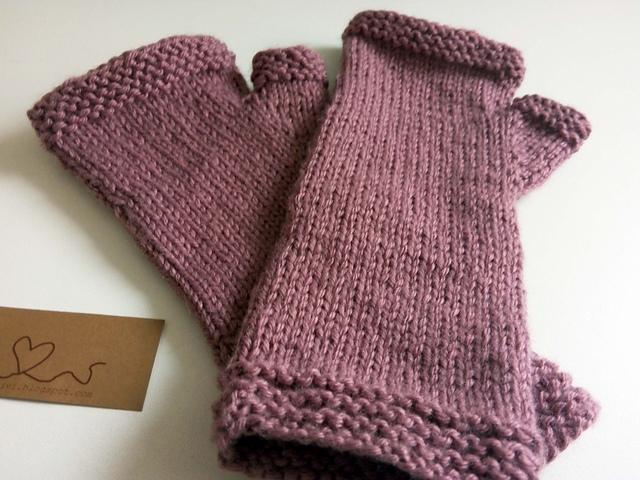 Mavivi tejiendo: Patrón fácil de mitones sin costuras