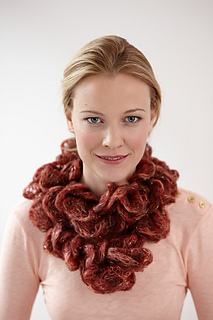 Free Knitting Pattern For Tube Scarf : Ravelry: Ruffled Tube Scarf (knit) pattern by Lion Brand Yarn