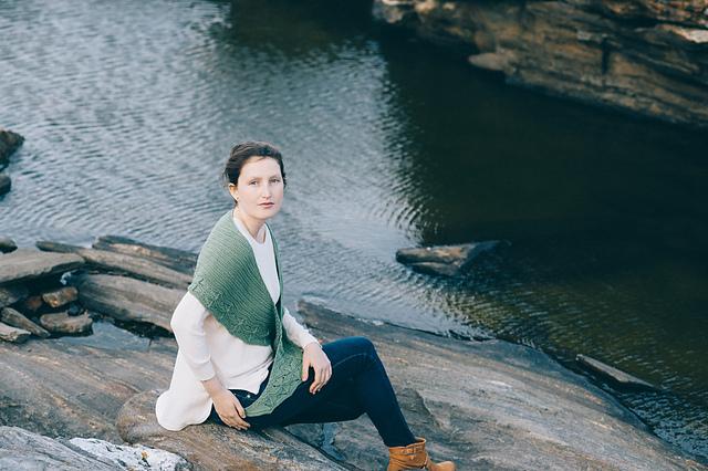 我的披肩季之三-Cave point - Tina - Tina的手工编织的博客
