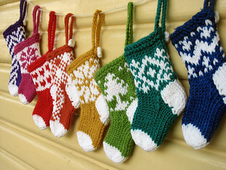 Ravelry: Mini Christmas Stocking Ornaments pattern by Julie Williams