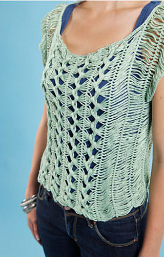 Knitting Hairpin Lace Pattern : Ravelry: hairpin lace top pattern by Claire Montgomerie
