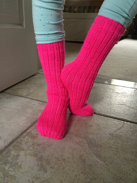 Neon Pink Tube socks take 2