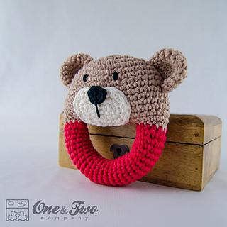 Free Crochet Pattern Baby Rattle : Ravelry: Teddy Bear Rattle pattern by Carolina Guzman