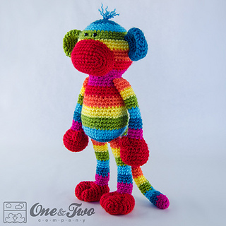 Ravelry: Rainbow Sock Monkey Amigurumi pattern by Carolina ...