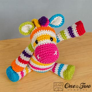 Amigurumi Crochet In The Round : Ravelry: Rainbow Zebra Amigurumi pattern by Carolina Guzman