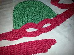 Free Crochet Pattern Ninja Turtle Mask : Ravelry: Ninja Turtle Hat/Mask pattern by Jaime George