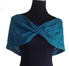 Ravelry: Moss Diamond and Lozenge Shoulder Wrap pattern by Pamela