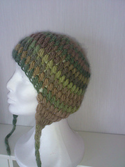 Ravelry Puff Stitch Crochet Cap With Ear Flaps Pattern By