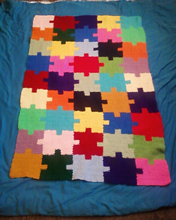 Jigsaw Blanket Knitting Pattern : Ravelry: Autism Awareness Puzzle Afghan pattern by Roberta Duley
