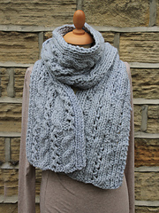 Lace Cable Scarf PDF