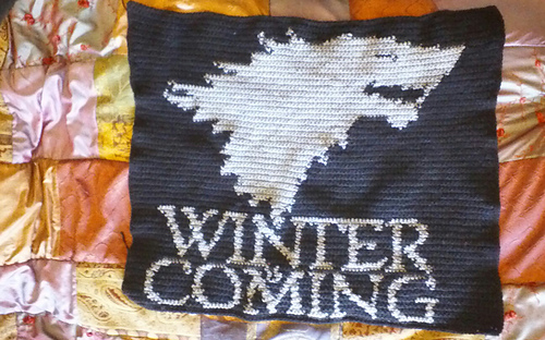 Crochet Patterns Game Of Thrones : Ravelry: House Stark Crochet Sigil/Banner pattern by Acquanetta ...