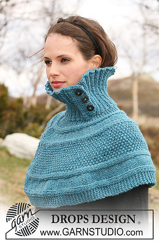Free Knitting Pattern For Short Poncho : Ravelry: 115-20 Short poncho knitted from side to side ...