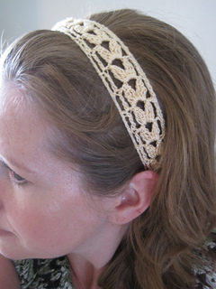 Ravelry: Summer Wheat Lace Headband pattern by Cirsium Crochet