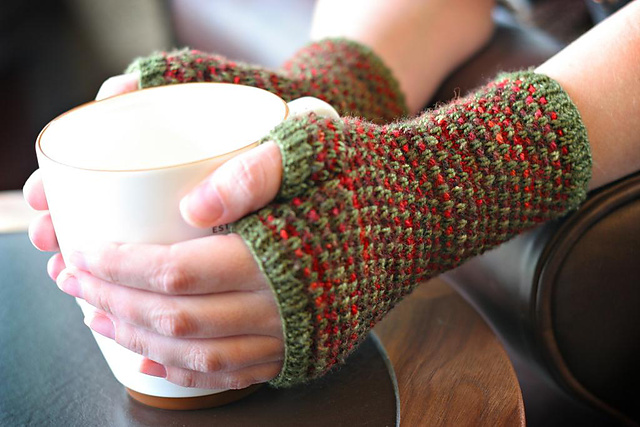 Mosaic Fingerless Mitts